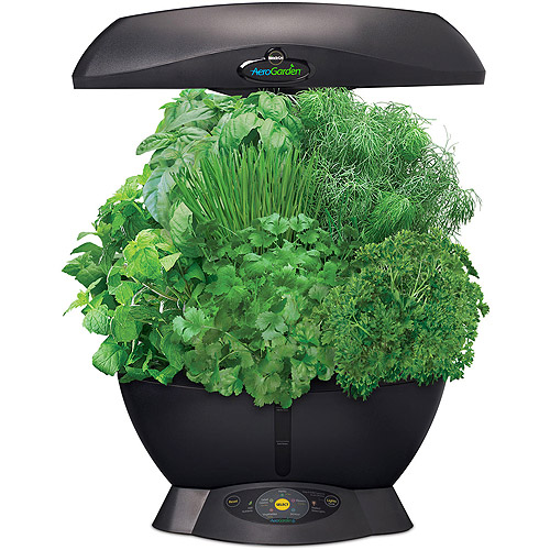 Miracle Gro AeroGarden 6 with Gourmet Herb Seed Kit Black