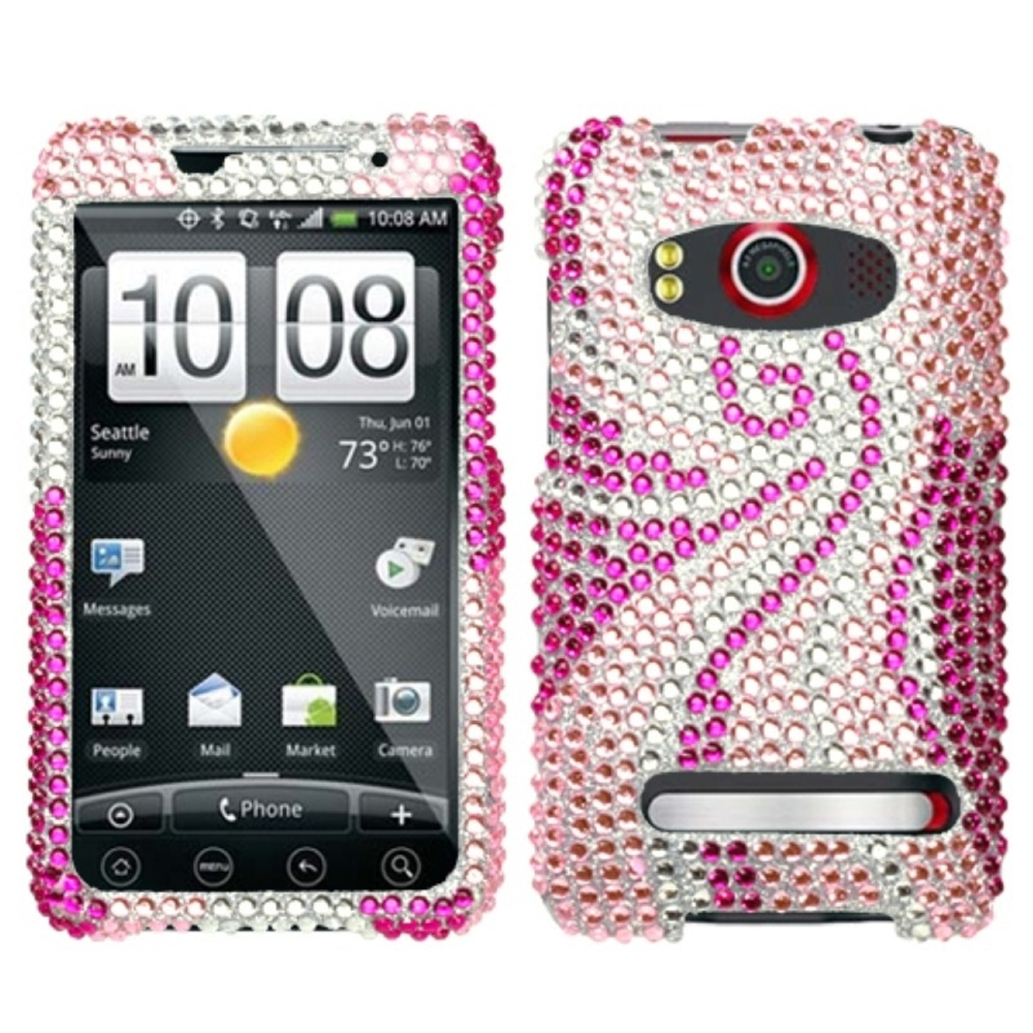 Insten Phoenix Tail Diamante Case for HTC: EVO 4G