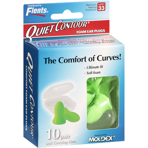 Flents Quiet Contour Foam Ear Plugs, 10ct