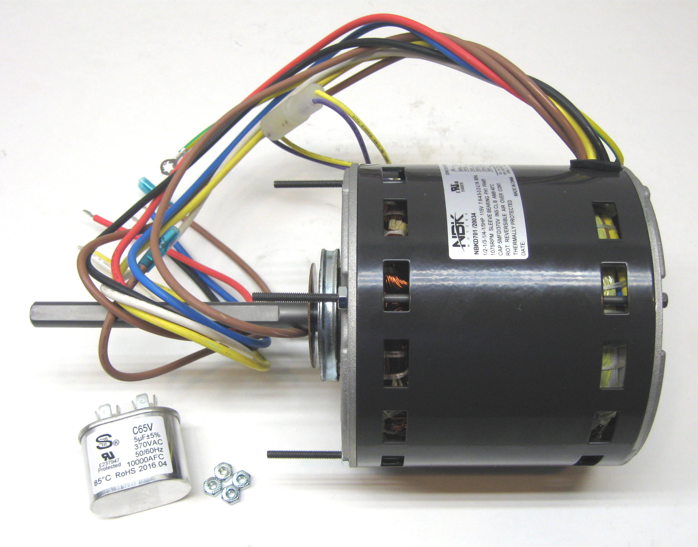 furnace air handler hvac direct drive blower motor 1 2 hp 1075 rpm 115 volts 4 speed capacitor included HVAC Blower Fuse