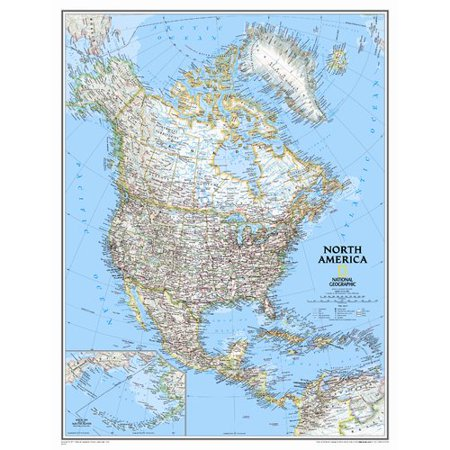 National Geographic Maps North America Classic Wall Map