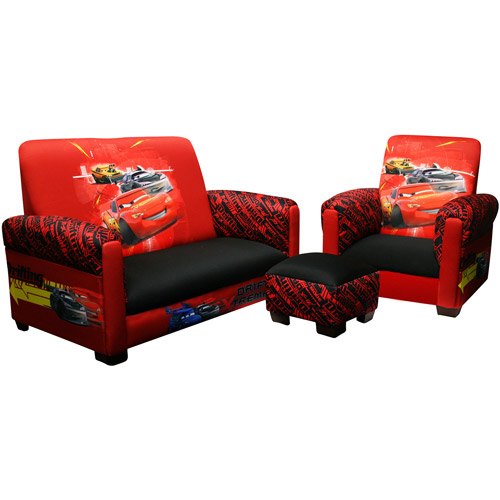 Disney - Cars Drift Toddler Sofa, Chair and Ottoman Set