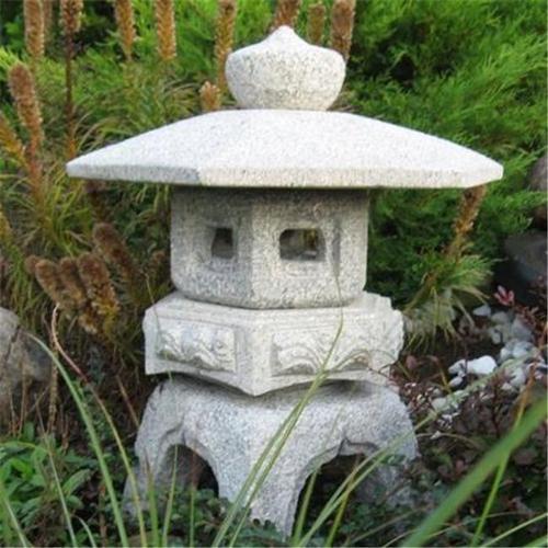 "Stone Age Creations LA-KR-18 Granite 18"" Yukumi Lantern Natural Stone"