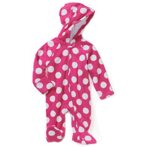 Healthtex Newborn Baby Girl Fleece Eared Pram