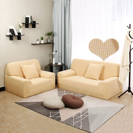 "Jacquard Sofa Cover Couch Removable Slipcover Washable 4 Seater #Yellow 92""-122"" - image 6 of 7"