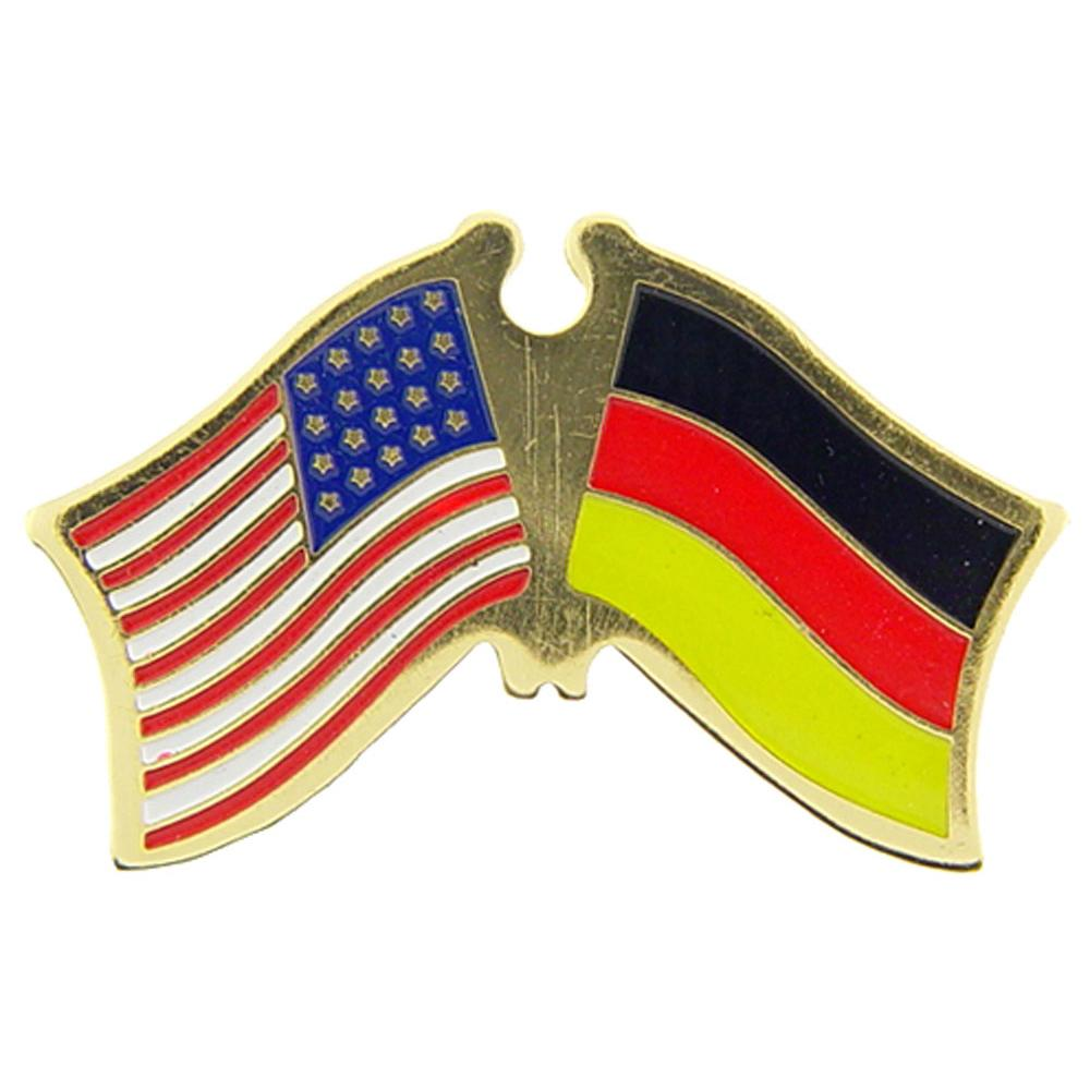 American & Germany Flags Pin 1