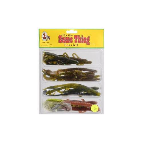 Creme Lure STTK-22 Fishing Soft Plastic Same Thing Texas Kit 22 Pcs Multi-Colored