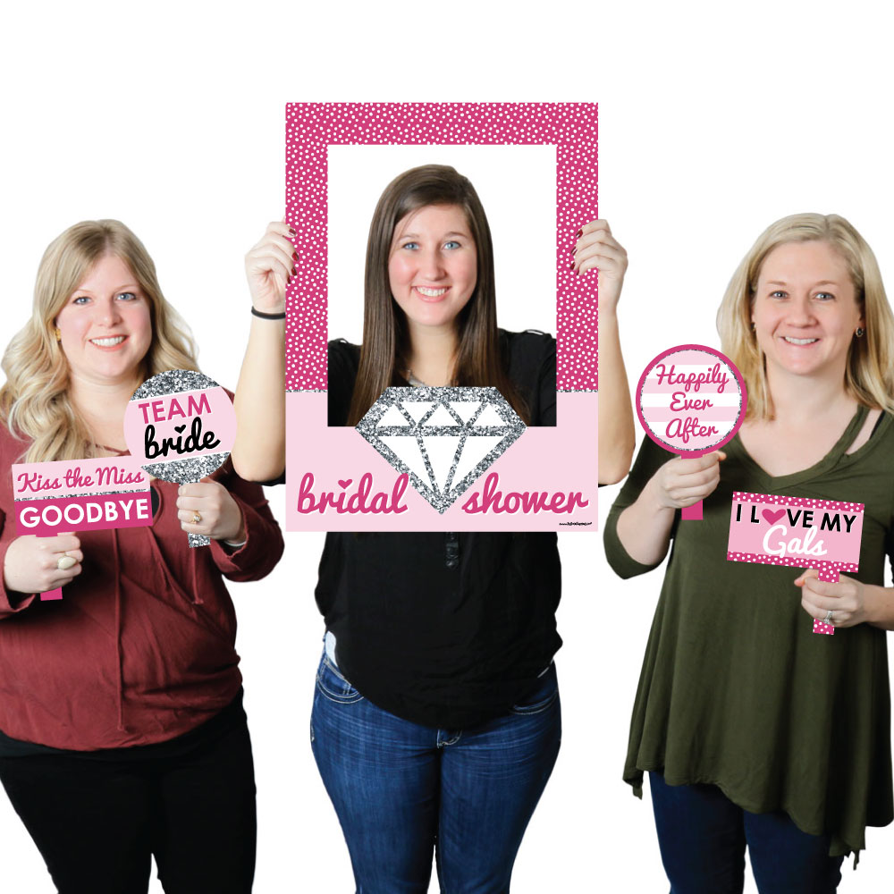 Bride-To-Be - Bridal Shower Selfie Photo Booth Picture Frame & Props ...