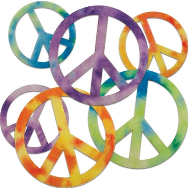 New Image Group 465964 Stick It Felt Shapes 24-Pkg-Peace Signs