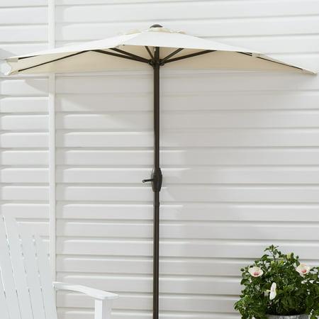 Mainstays Hillwood 7' White Half-Round Patio Umbrella