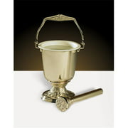 Christian Brands Church Supply PS628 Embossed Holy Water Pot with Sprinkler Set