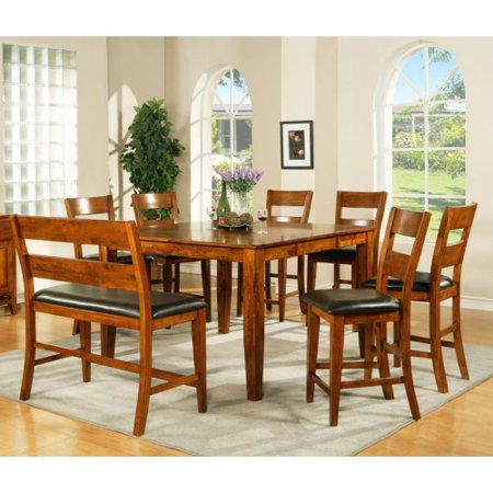 silver mango counter height 8 piece dining table set