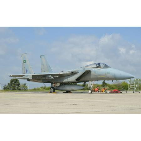 A Royal Saudi Air Force F-15C during Exercise Green Shield 2014 at Nancy Air Base France Poster - Nancy Air