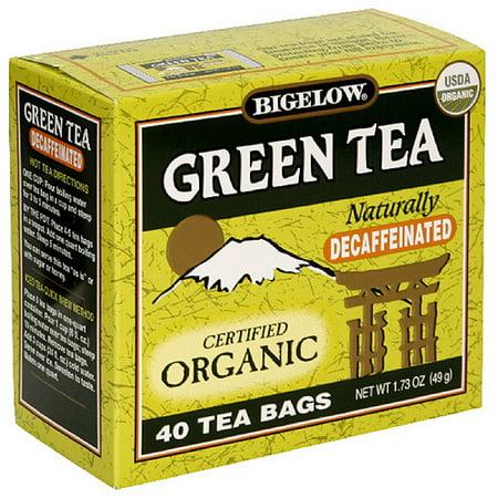 Bigelow décaféiné Thé vert bio, 40ct (Pack de 6)