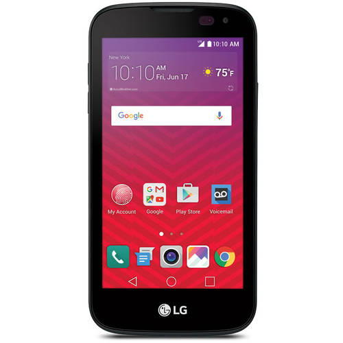 Virgin Mobile LG K3 8GB Prepaid Smartphone, Black