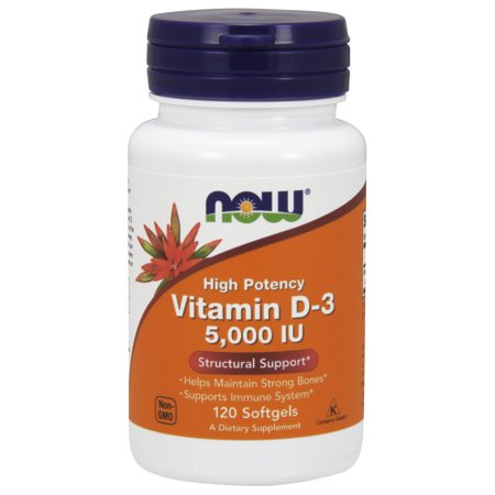 NOW Supplements, Vitamin D-3 5000 IU, 120