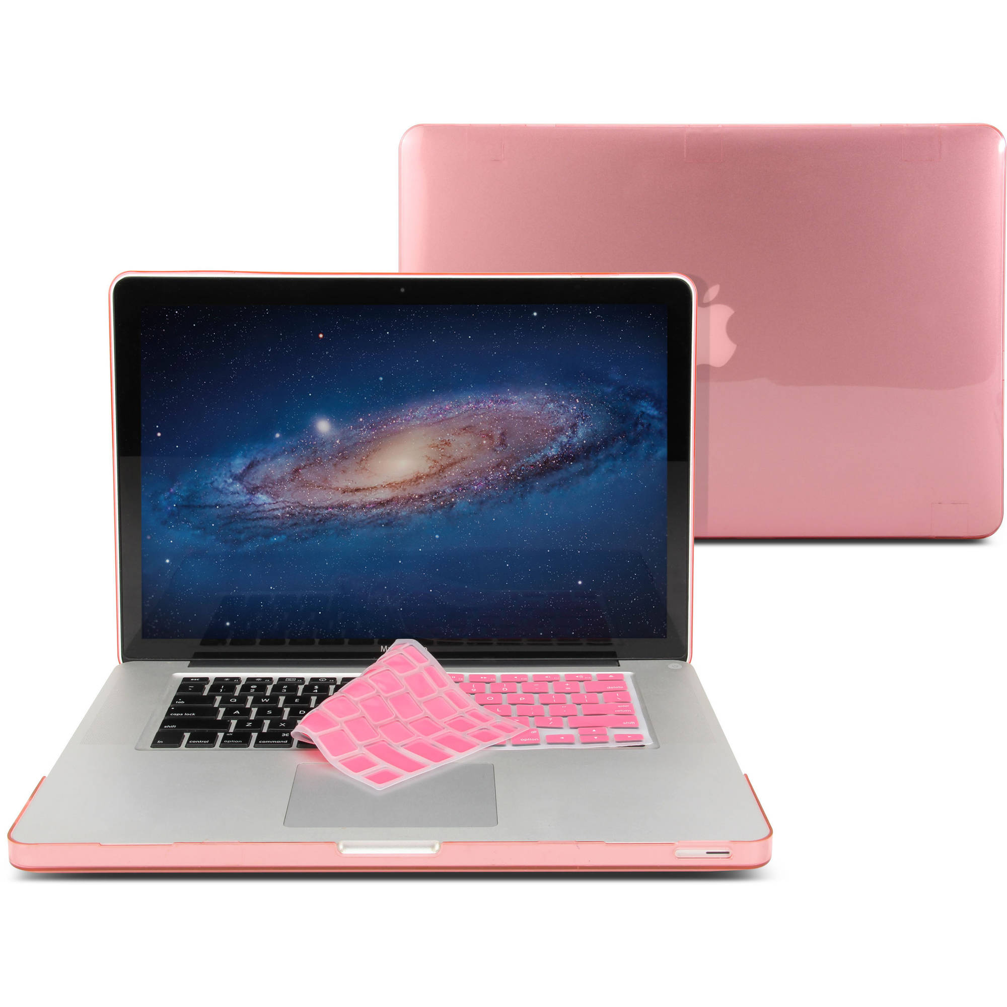 "Hard Case Glossy for MacBook Pro 15"" with Pink Keyboard Cover (Not fit for MacBook Pro 15 Retina)"