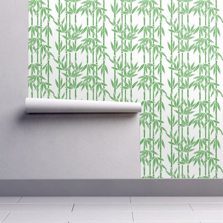 Halloween Live Wallpaper (Removable Water-Activated Wallpaper Bamboo Tropical Plant Nature Wicker)