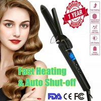 Beautural Hair Curling Wand Hair Curler Curling Iron 1 Inch with Ceramic Coating 110V-220V Voltage 250°F to 390°F for All Hair Types with Protective Glove