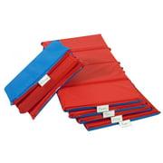 """4-Fold 2"""" Germ Guard Folding Rest Mat - Red/Blue (Set of 5)"""