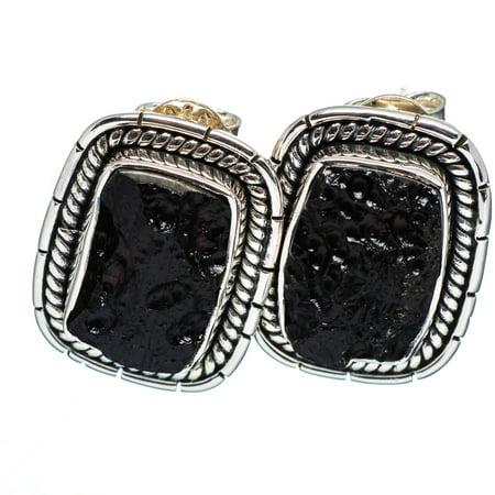 Ana Silver Co  - Tektite Earrings 3/4