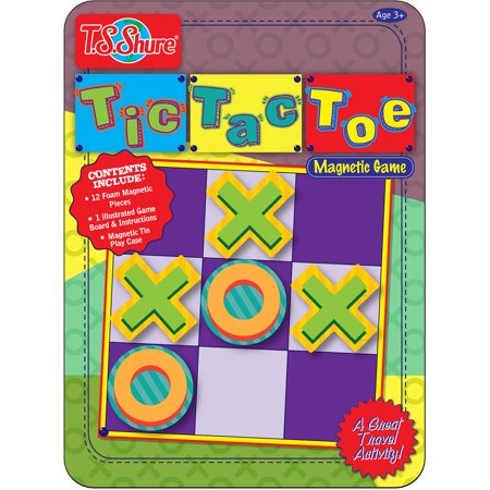 T.S. Shure Tic Tac Toe Deluxe Magnetic Game Tin - Tic Tac Toe Halloween Game