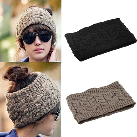 Fashion Korean Winter Warm Women Braided Knit Hat Cap Headband Hair Bands - Funny Hats With Hair
