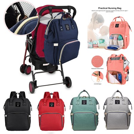Vbiger Diaper Bag Multifuncation Waterproof Large Capacity Durable Nappy Tote Backpack Unisex