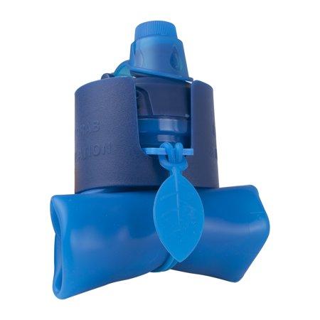 Silicone Water Bottle Foldable Collapsible Anti Leakage, Leak Proof Twist Cap, BPA Free FDA Approved Foldable Water Bottle for Sport, 17oz/500ml, Blue - image 6 de 7