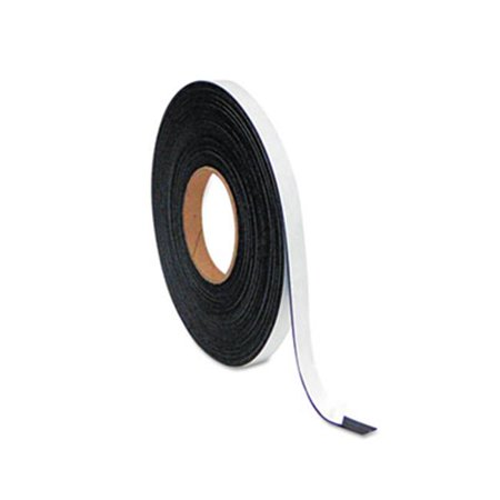 Bi-Silque Visual Communication Products FM2321 Magnetic Adhesive Tape Roll, .5 in. x 50 Ft., Black - image 1 de 1