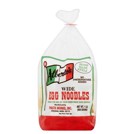 Image of Alberto's Wide Egg Noodles, 1 lb, 6 pack