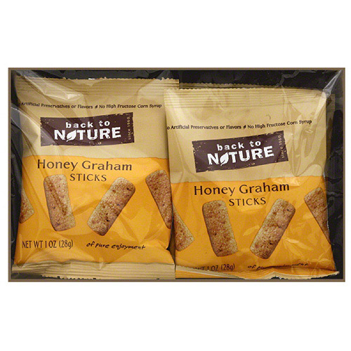 Back to Nature Honey Graham Sticks, 1 oz, 8 count, (Pack of 4)