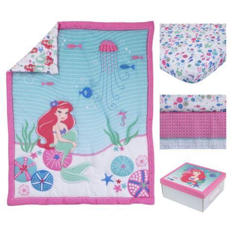 Disney Ariel Ocean Beauty 4pc Crib Bedding Set