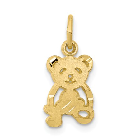 Yellow Gold Teddy Bear Charm - 10k Yellow Gold TEDDY BEAR Charm Pendant