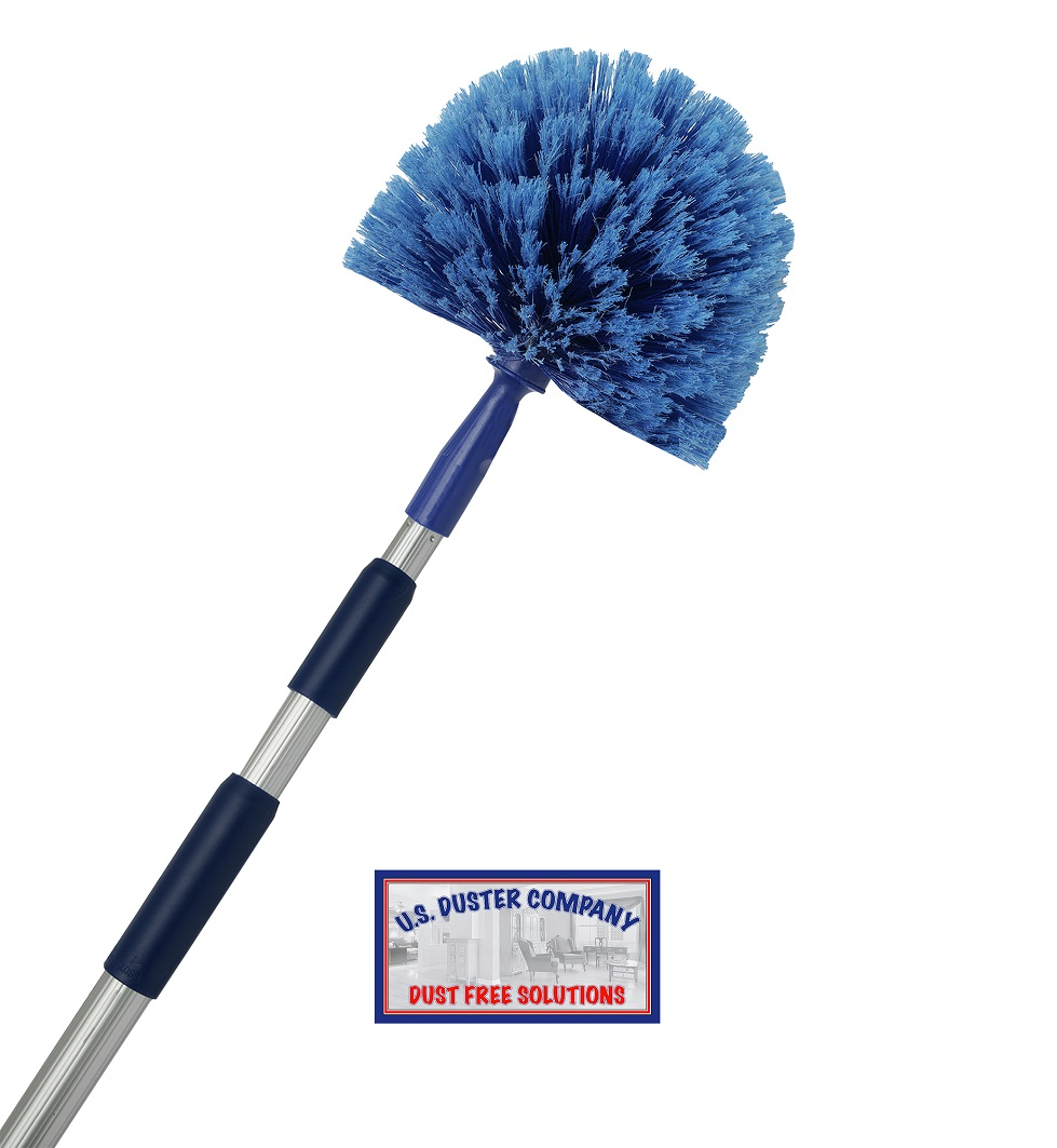 Extension Rod & Cobweb Duster, U.S. Duster Company, Extend 18-20 feet, Cleaning High Ceilings, Cathedral Ceilings, Ceiling Fans, Pest Control Duster