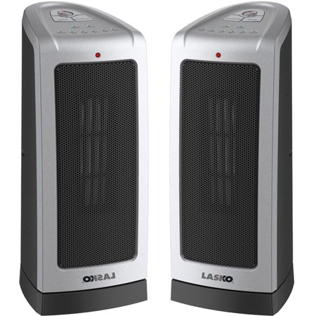 Lasko 2-Pack 5309 Oscillating Ceremic Tower Heater with Electronic  Thermostat, 1500 Watt