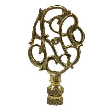 Royal Designs Hand Carved Caste Floral Lamp Finial For