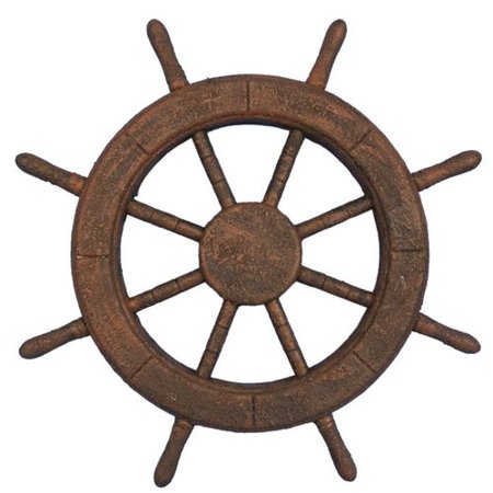 Handcrafted Nautical Decor Decorative Ship Wheel Wall D cor](Ship Wheel Decor)