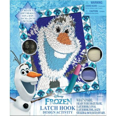 Frozen Latch Hook Activity