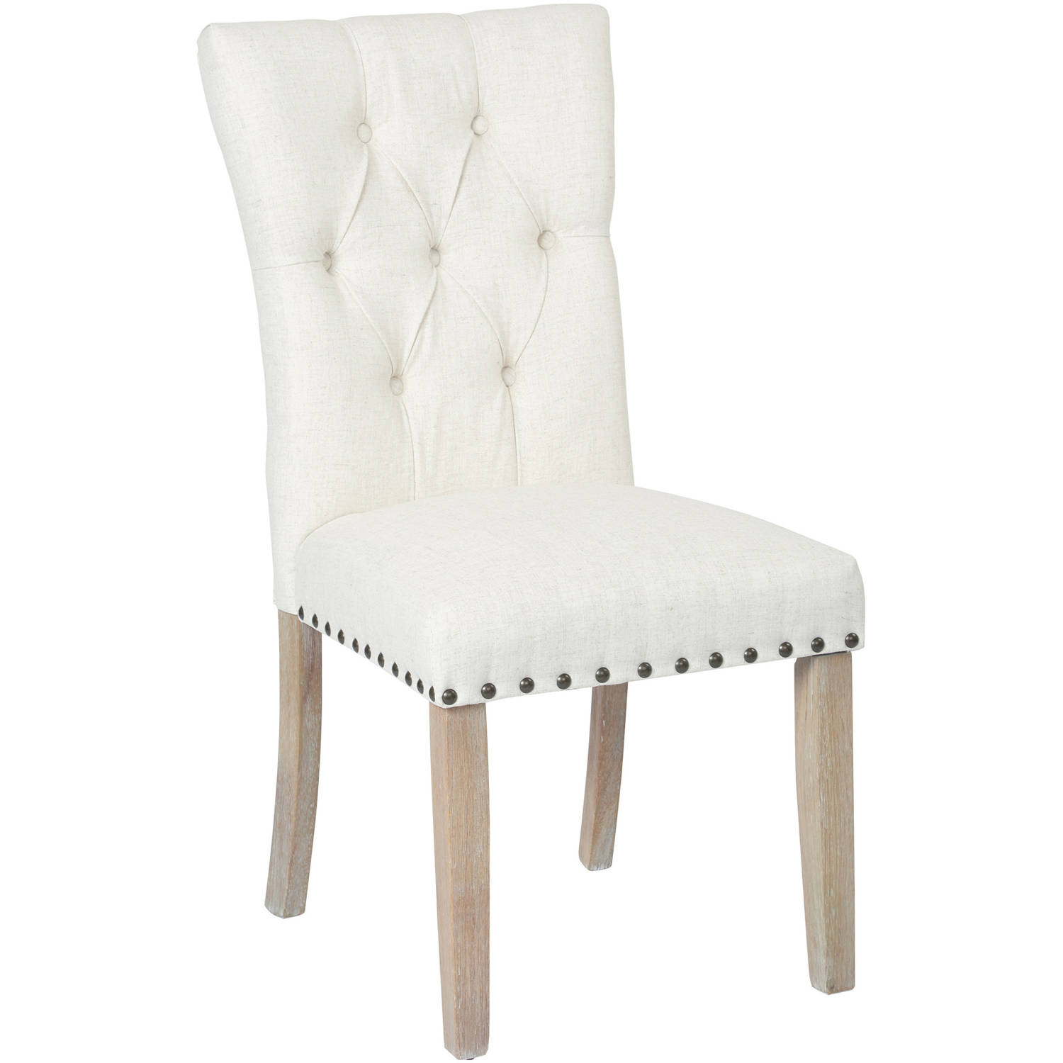 Preston Dining Chair With Nailheads And Brushed Legs, K/D, Various Colors