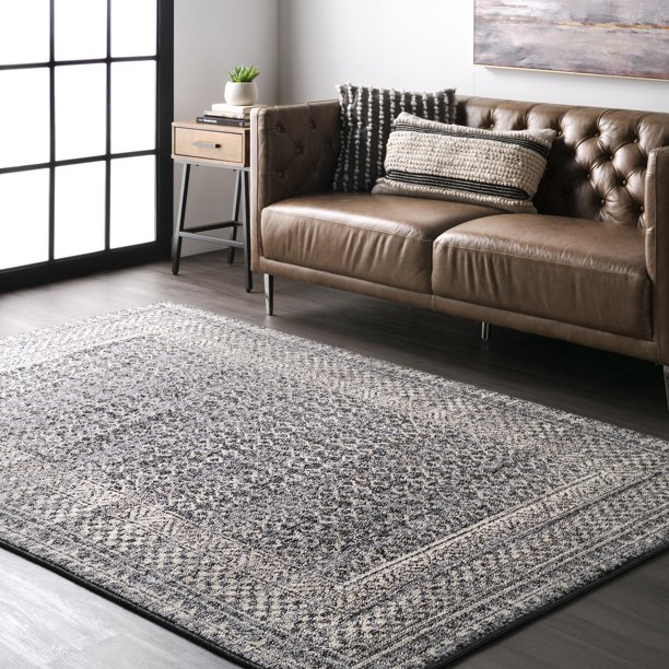 nuLOOM Elodie Distressed Diamonds Area Rug