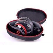 Black Zipper Earphones Carrying Case for Beats Monster by Dr.Dre , Power Beats 2, Power Beats Wireless by Leadingstar