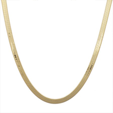 10k Yellow Gold Super Flexible Silky Herringbone Chain Necklace 0.12 (3mm)