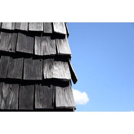 Canvas Print House Roof Shingles Roofing Old Stretched Canvas 10 x