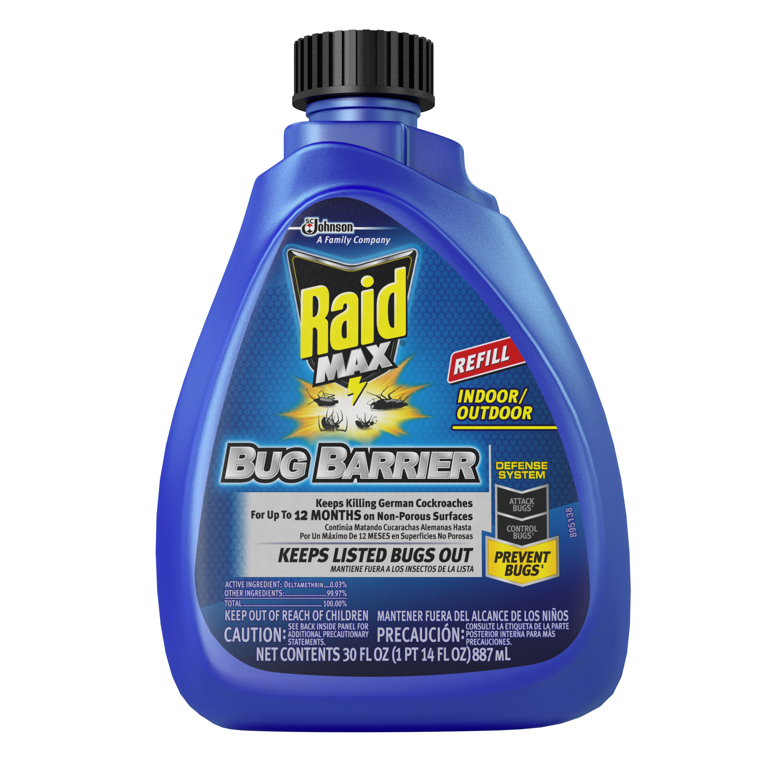 Raid Max Bug Barrier Trigger Refill 30 Fluid Ounces