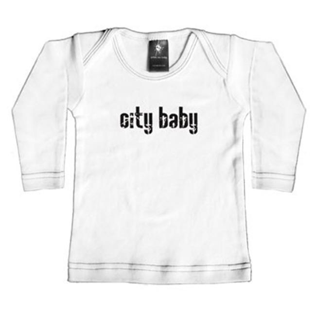 Rebel Ink Baby 353wls1824 City Baby- 18-24 Month White Long Sleeve Tee