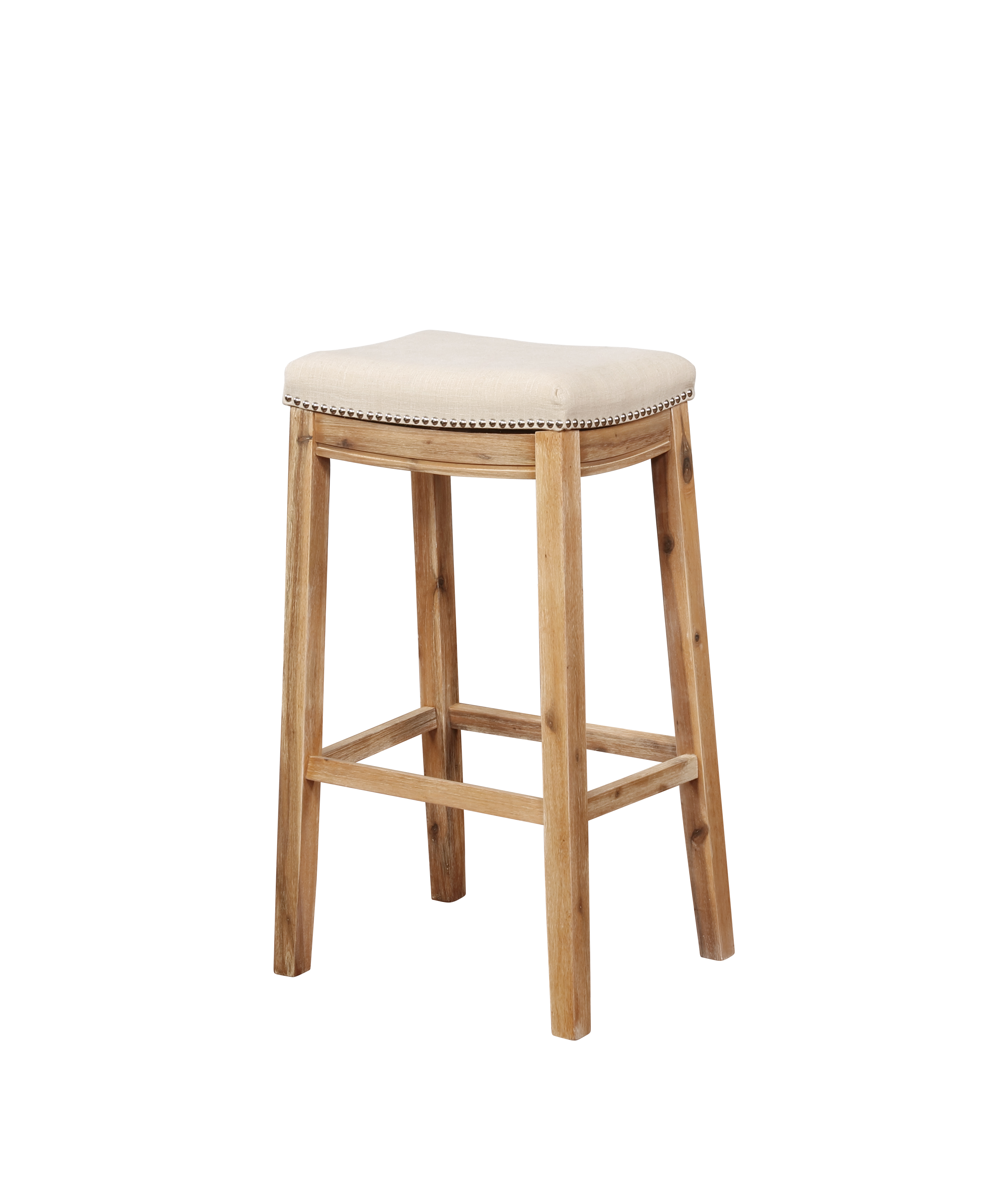 Linon Claridge Bar Stool 32 Inch Seat Height Multiple Colors