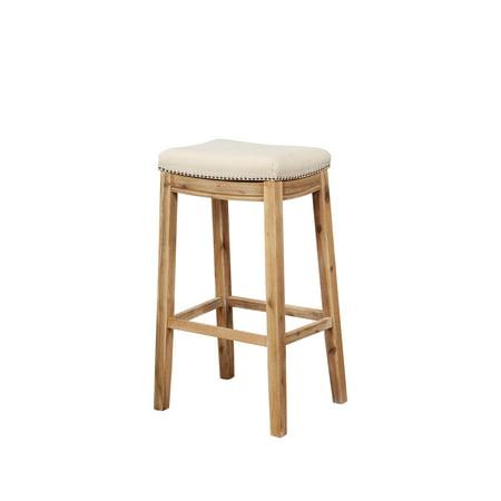Linon Claridge Bar Stool 32 Inch Seat Height Multiple Colors