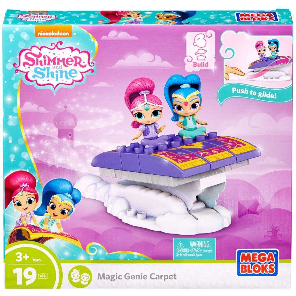 Mega Bloks Nickelodeon Shimmer and Shine, Magic Genie Carpet by Mattel