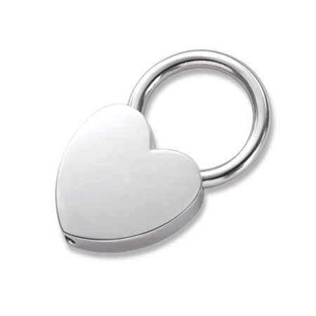 Mini Heart Key Ring - Silver